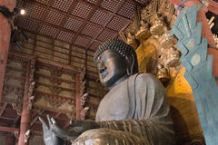 World largest bronze buddha statue in Todai-ji temple, Japan Royalty Free Stock Image