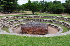 World largest meteorite. Hoba meteorite near Tsumeb,Namibia,Africa royalty free stock images