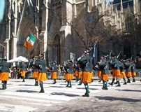 The World Largest St. Patrick Day Parade in New York City stock image