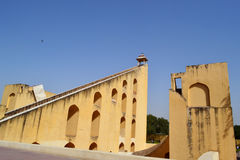 world largest sundial at jantar mantar observatory Jaipur Rajasthan India Royalty Free Stock Photography