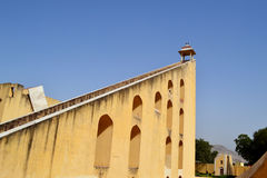 World largest sundial at Jantar mantar observatory Jaipur Rajasthan India Royalty Free Stock Image