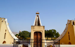 World largest sundial at Jantar mantar observatory Jaipur Rajasthan India Stock Images