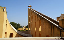 World largest sundial at Jantar mantar observatory Jaipur Rajasthan India Stock Photography