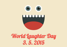 World Laughter Day card Royalty Free Stock Photo