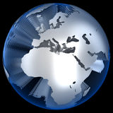 World in Layers. Isolated on black Royalty Free Stock Images