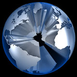 World in Layers. Isolated on black Royalty Free Stock Photos