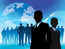 World leadership. Lead team work in the world wire Stock Photo