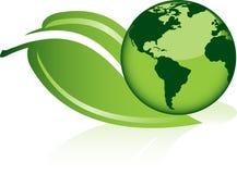 World on a leaf Stock Photo