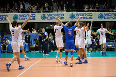 World League Italy Exultation Royalty Free Stock Images