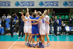 World League Italy Exultation Royalty Free Stock Image
