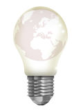 The world in a light bulb. This is a digital drawing of the world in a light bulb Royalty Free Stock Photo