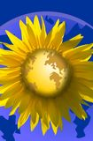 World like a flower. Sun flower stock illustration