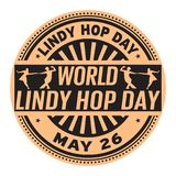World Lindy Hop Day stamp. World Lindy Hop Day, May 26, rubber stamp, vector Illustration Stock Image