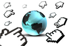 World Link. A 3d representation of earth as web link Royalty Free Stock Photos