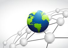 world link connection network illustration Royalty Free Stock Image