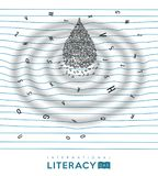 World Literacy Day concept for children education Royalty Free Stock Photography