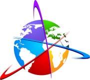 World logo. Illustration art of a world logo with isolated background Stock Image