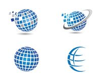World Logo Template. Wire World Logo Template vector illustration Royalty Free Stock Images