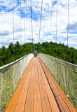 World longest pedestrian suspended bridge Quebec Royalty Free Stock Images