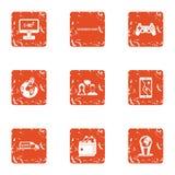 World love icons set, grunge style. World love icons set. Grunge set of 9 world love vector icons for web isolated on white background vector illustration