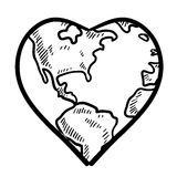World love sketch Royalty Free Stock Image