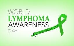 Lymphoma awareness day. World Lymphoma awareness day, September 15 vector illustration