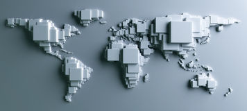 World made in blocks Stock Photography