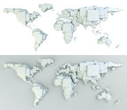 World made in blocks Stock Photo