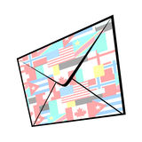 World mail Royalty Free Stock Photo