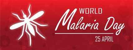World Malaria Day. On April 25 background Royalty Free Stock Images