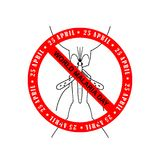 World Malaria Day Card. World Malaria Day - suitable for greeting card, poster and banner Royalty Free Stock Photos