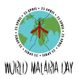 World Malaria Day Card. World Malaria Day - suitable for greeting card, poster and banner Royalty Free Stock Photography