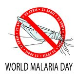 World Malaria Day Card. World Malaria Day - suitable for greeting card, poster and banner Stock Photo