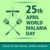 World malaria day cartoon design illustration 11. World malaria day at 25 april Stock Photo