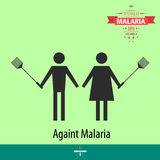 World malaria day cartoon design illustration 09 Stock Image