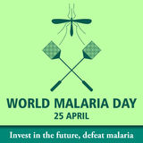 World malaria day cartoon design illustration 12 Royalty Free Stock Photography
