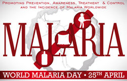 World Malaria Day Design Promoting Prevention Methods for this Disease, Vector Illustration Stock Image