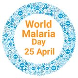 World malaria day. Illustration concept Royalty Free Stock Photography