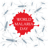 World Malaria Day poster Stock Photo