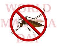 World malaria day poster with no mosquito Stock Photography