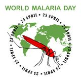 World Malaria Day Card. World Malaria Day - suitable for greeting card, poster and banner Royalty Free Stock Images