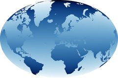 World map 03 Royalty Free Stock Images