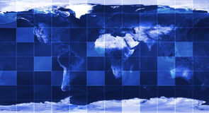 World map. World map with ocean relief, digital concept Royalty Free Stock Images