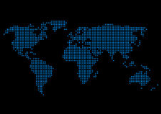 World Map. Vector illustration representing world map composed of blue squares Royalty Free Stock Photo
