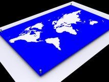 World Map. 3d Rendered World Map Stock Illustration