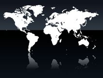 World Map. In very high detail Royalty Free Stock Photography