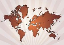 World map. In retro background eps Stock Photo