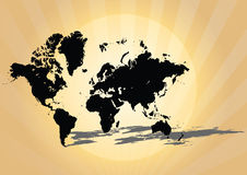 World map. In retro background eps Royalty Free Stock Photos