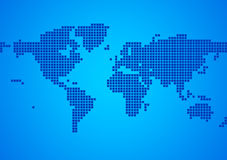 World Map. The background of the blue map of the world Stock Image