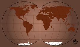 World Map. Vector illustration of a world map Stock Photos